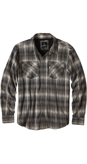 Prana M's Asylum Flannel Long Sleeve Gravel